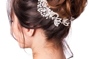 Beauty wedding hairstyle.