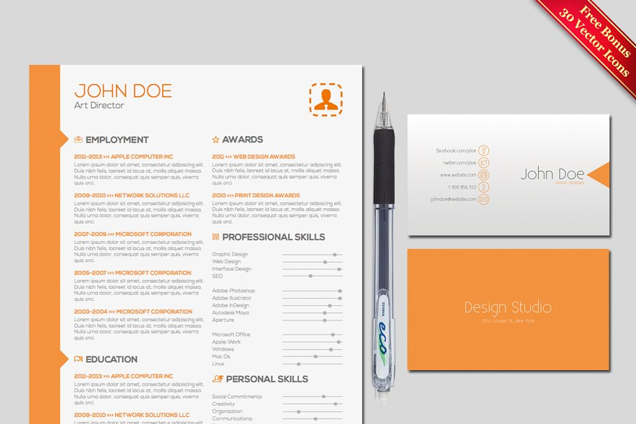 Resume Cover Letter Template Templates Creative