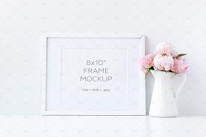 Landscape White Frame Mockup 8x10