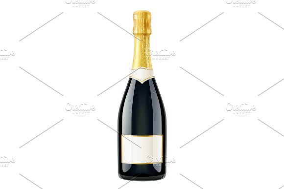 Champagne Wine Bottle French