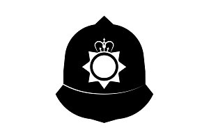 Hat of the Constable black on white