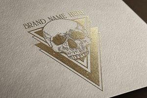 Cool Skull Logo - Vector & Mock-Up