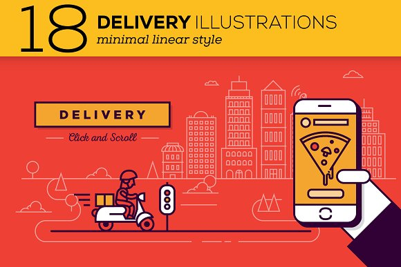 Delivery Icons Illustrations