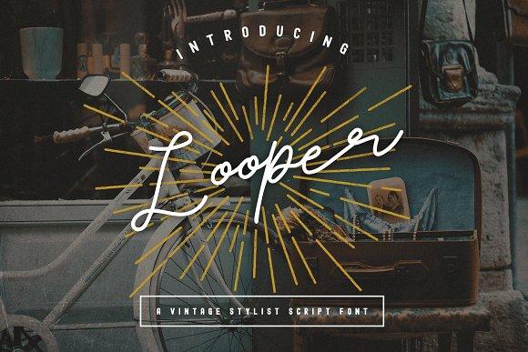 Looper Vintage Script Font Bonus
