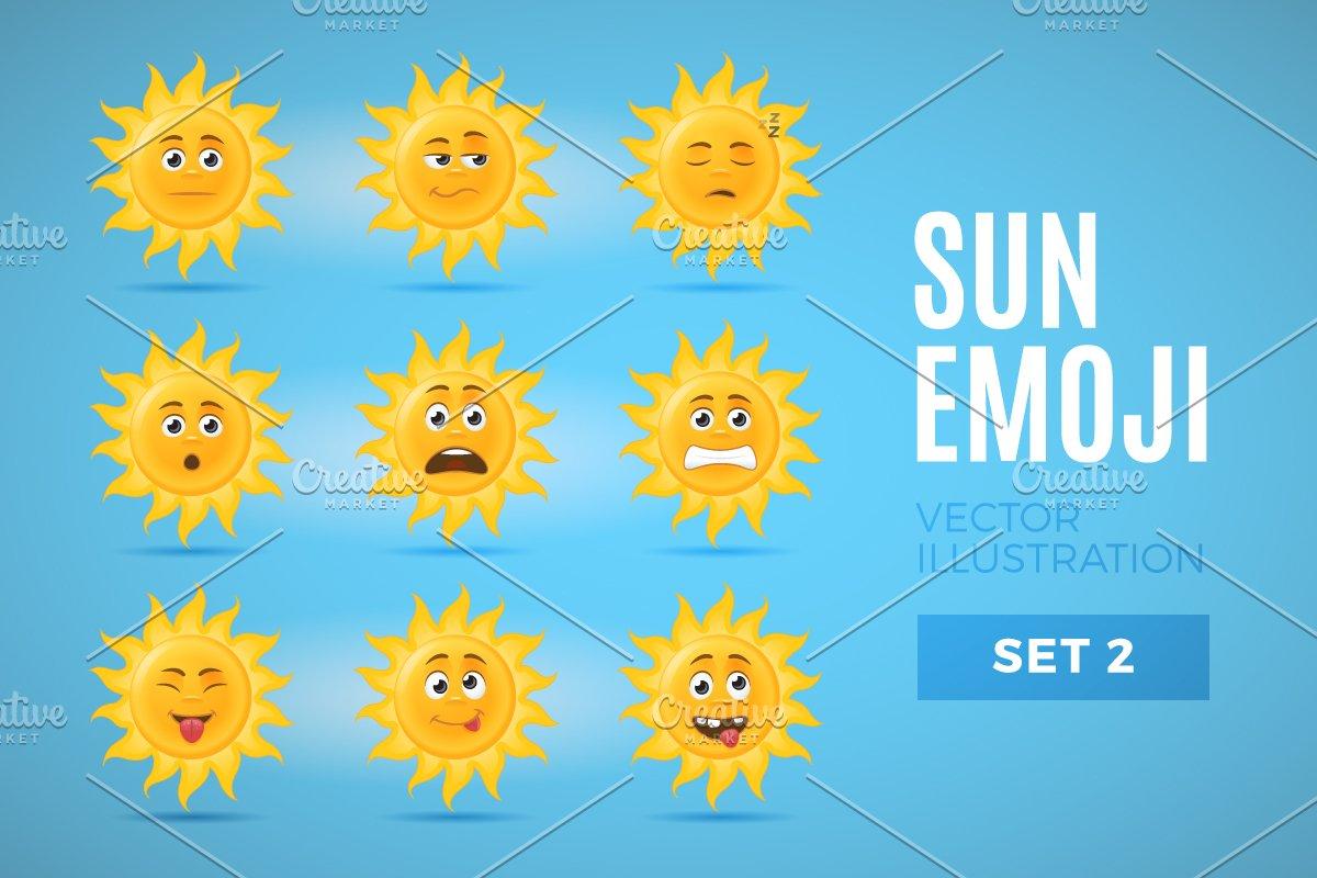 Sun Emoticons - Set 2