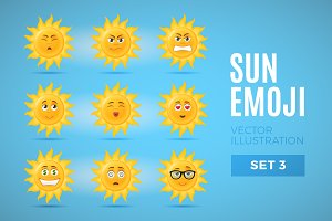 Sun Emoticons - Set 3