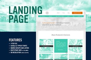 Mint - Landing Page (PSD)