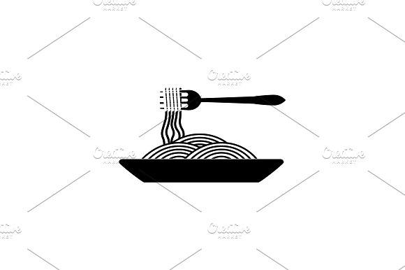 Spaghetti Italian Pasta Black