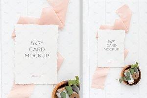 5x7 Wedding Invitation Mockup