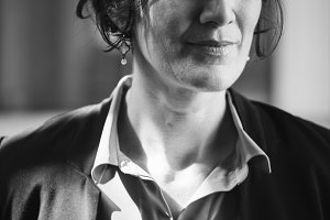Businesswoman portrait black & white