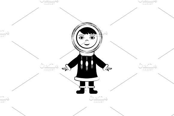 Eskimo Vector Icon Black On White