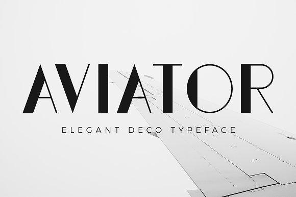 Aviator Elegant Art Deco Font