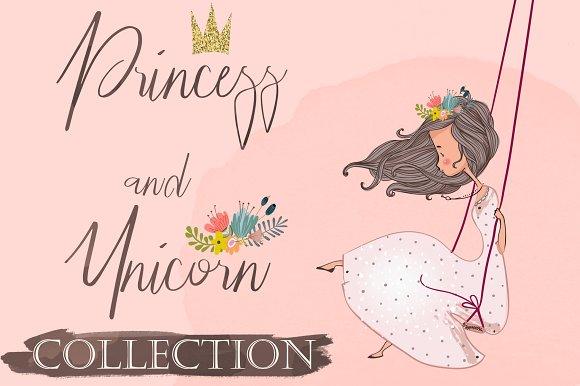 Pink Unicorn With Princess