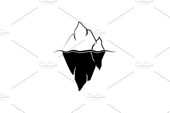 Iceberg Logo Vector Black On White