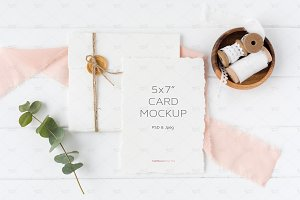 Wedding Invitation Mockup, Psd + Jpg