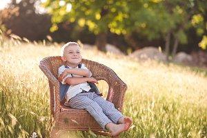 Child boy resting