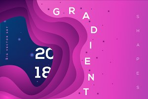 Gradient Shapes Vector Collection