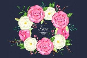 Roses Lana watercolor Clipart