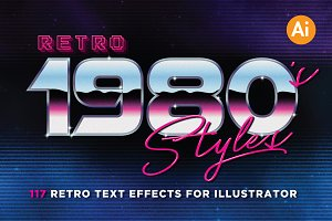 80's Retro Graphic Styles