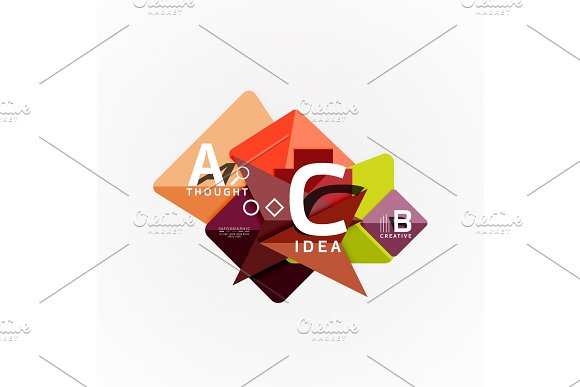 Vector infographic options banner, paper style design in Illustrations