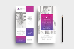 Modelling Agency DL Card Template