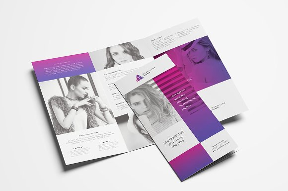 modelling agency trifold brochure - 3 Fold Brochure Design Templates
