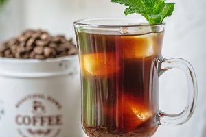 Iced Coffee with Mint
