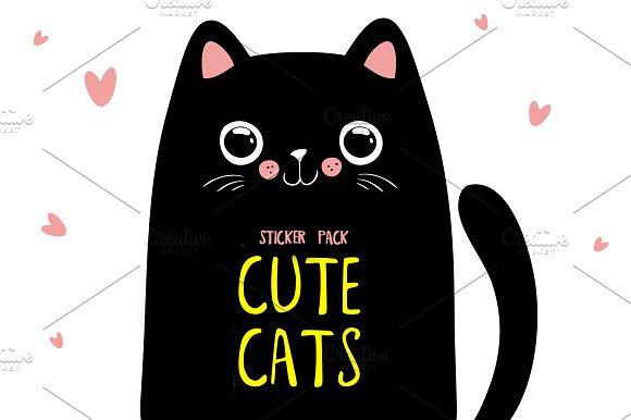 Cute Cats Sticker Pack