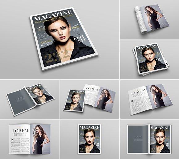 Download US Letter Magazine Mockup