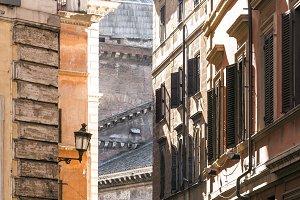 Old city lamp in Rome