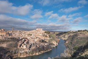 Toledo medieval city skyline, Spain.
