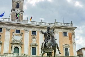 the statue of Marcus Aurelius