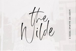 The Wilde | SVG Font