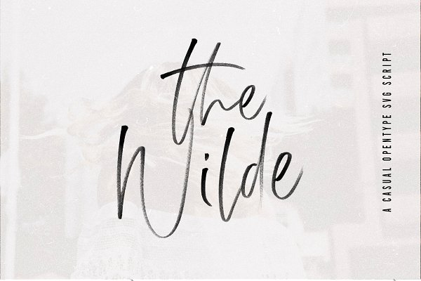 The Wilde  SVG Font