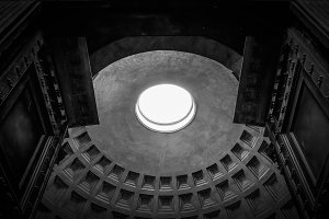 Pantheon dome in Rome