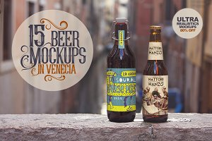 Bundle Venecia x15 | Beer Mockups