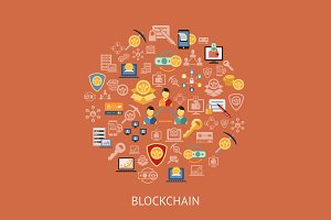 Bundle of 10 blockchain infographics
