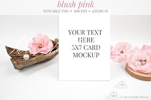 Rustic Table Number Mockup