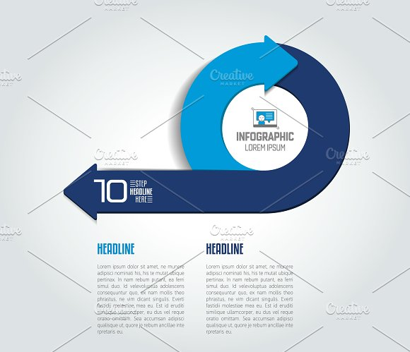 Infographic Arrow Circle Template