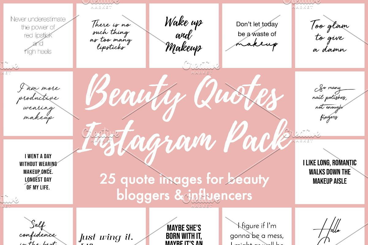 25 Beauty Quotes Instagram Pack