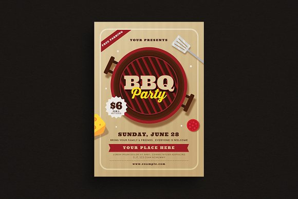 BBQ Party Event Flyer