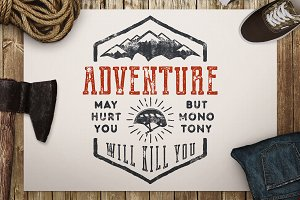 Great Adventure Print / Camp Badge
