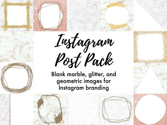 20 Chic Marble Instagram Post Frames