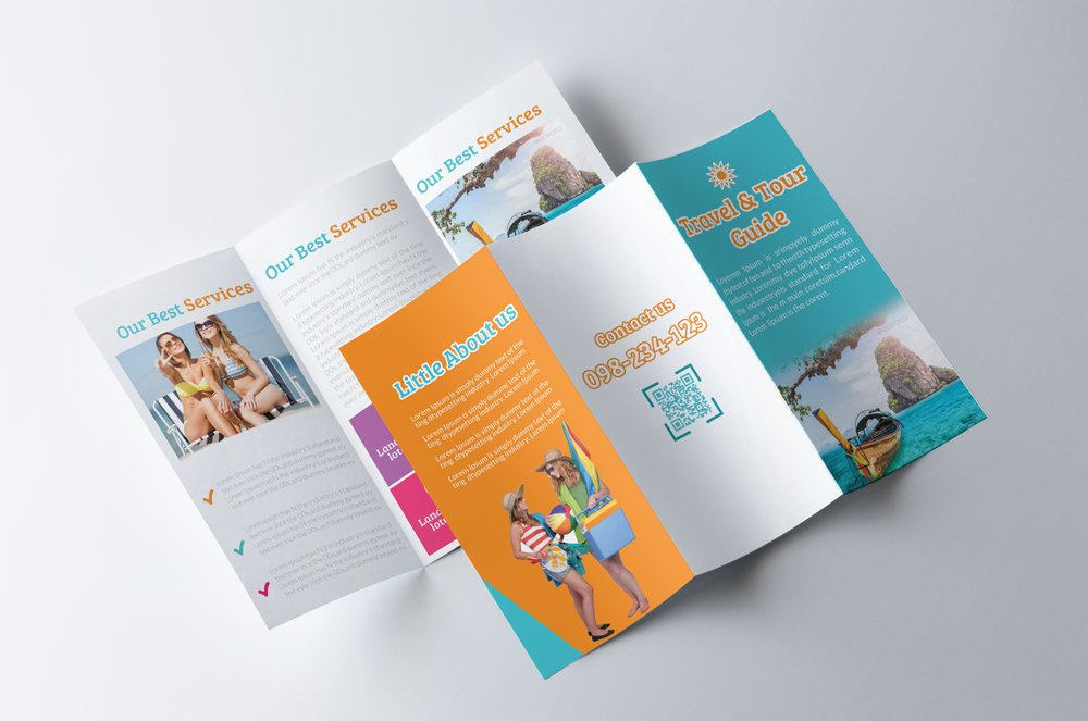 tour brochure template - tour travel guide trifold brochure brochure templates