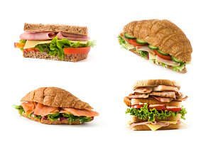Sandwich and croissant collage