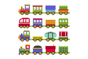 Color Toy Railroad Train Set