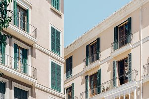 Mediterranean city house facade