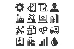 Manufacturing and Engineering Icons