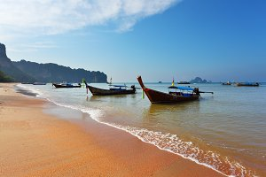 Magic beach on island.
