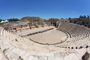 Roman amphitheater in Beit Shean